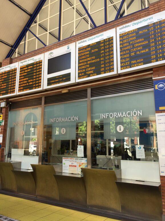 スペインのバス切符売り場